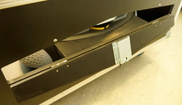laser scanner visibility plate opened
