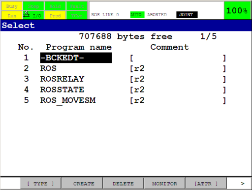 ROS-Industrial TPE programs on the controller after installation