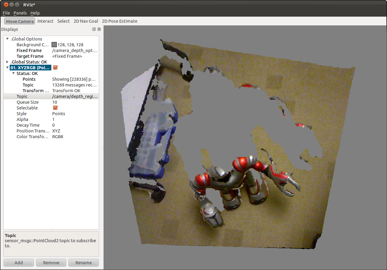 Registered point cloud