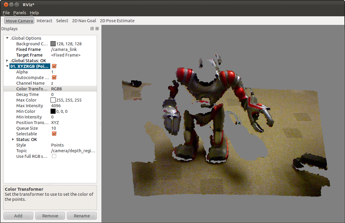 RGB pixel to depth map - ROS Answers: Open Source Q&A Forum