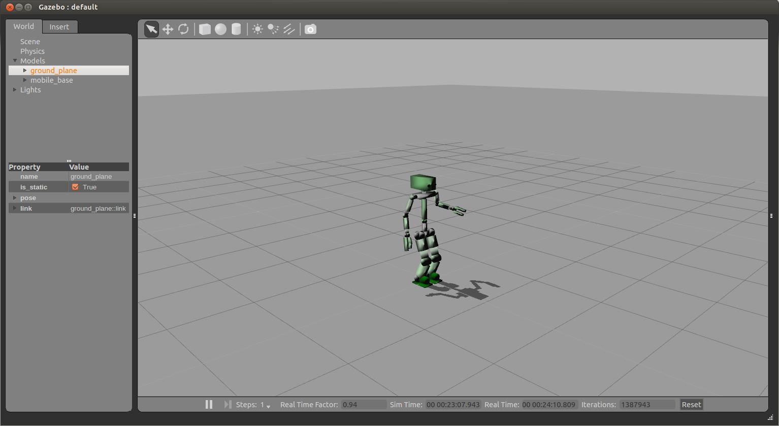 sample robot in gazebo