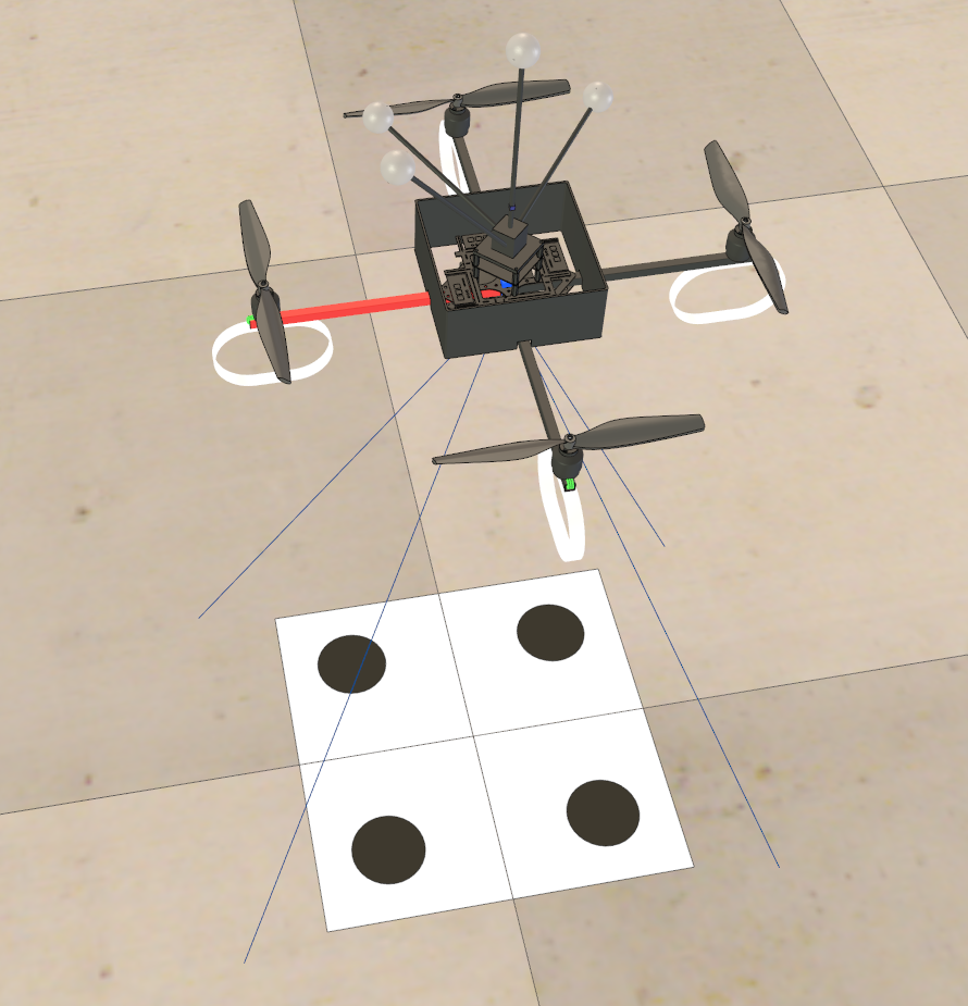 Quadrotor in V-REP
